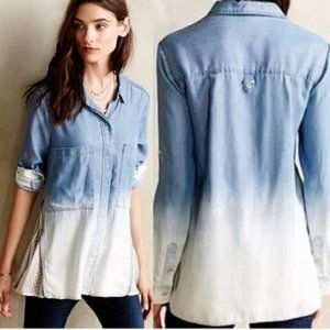 Anthropologie Holding Horses Chambray Ombre Shirt